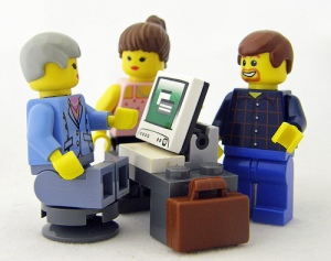 lego men and computer